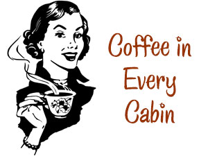 Coffee in Every Cabin at Travelers Rest Lodge