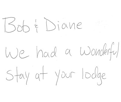 Travelers Rest Lodge Testimonial